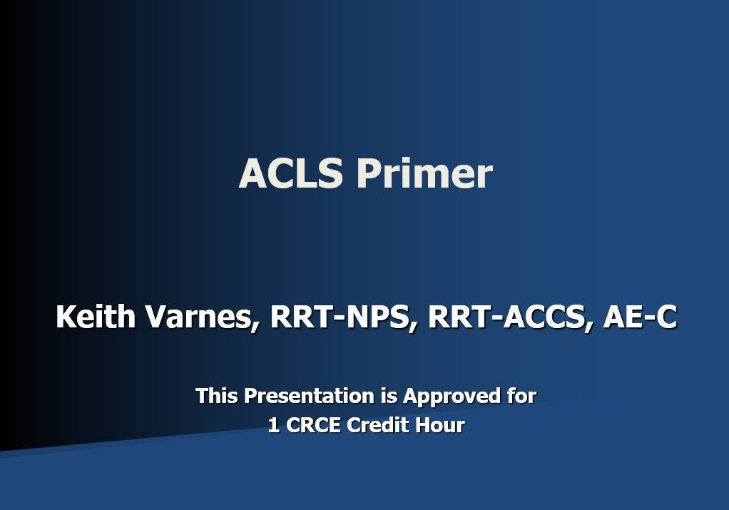 ACLS Primer Title Page