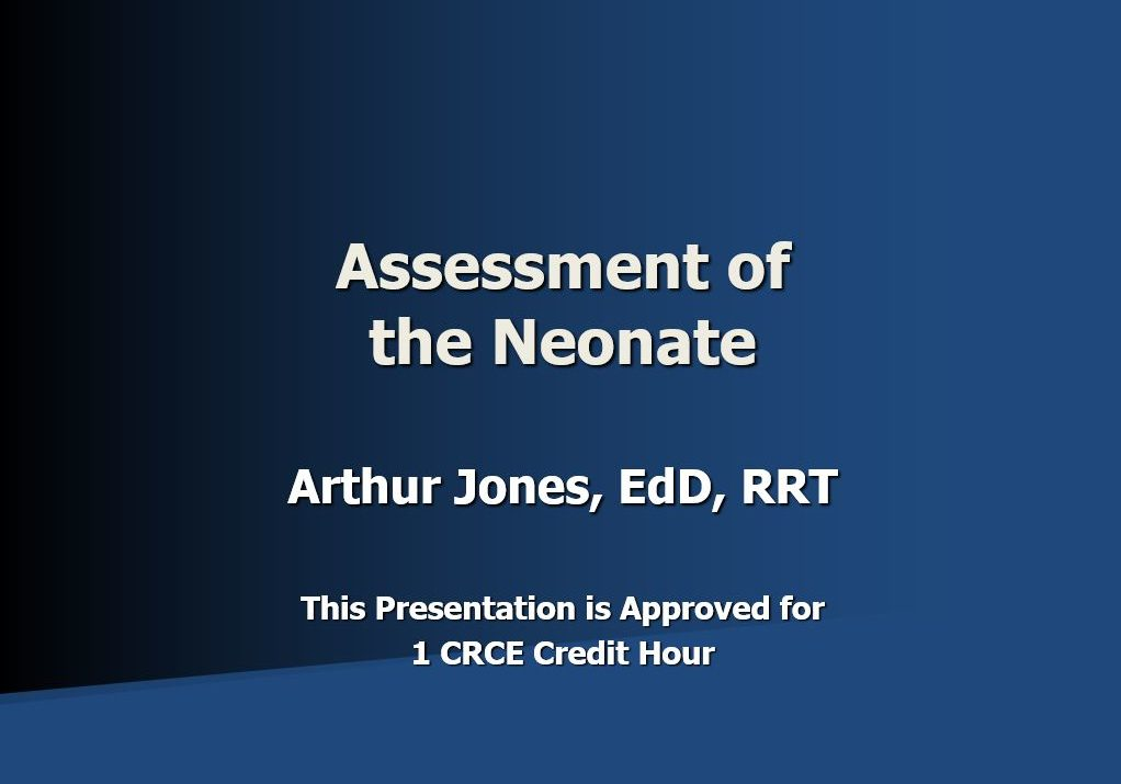 Assess of the Neonate Title Page