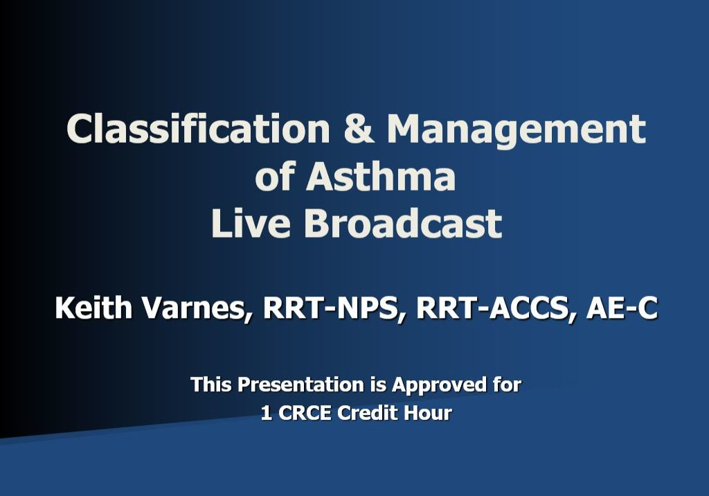 CM Asthma Live Broadcast Title Page