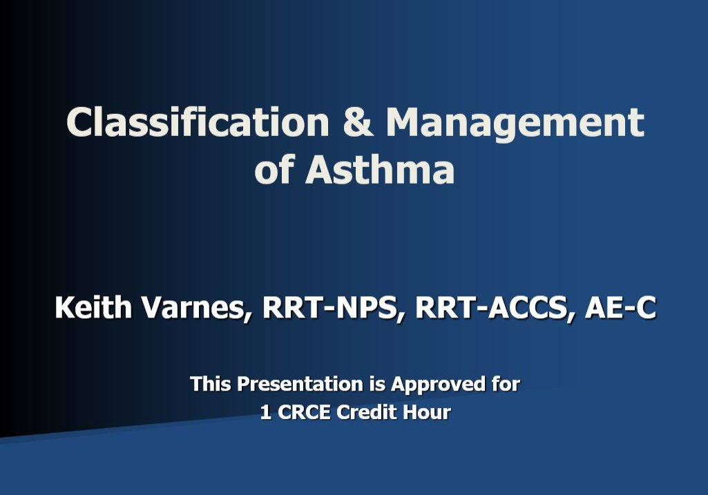 CM Asthma Title Page