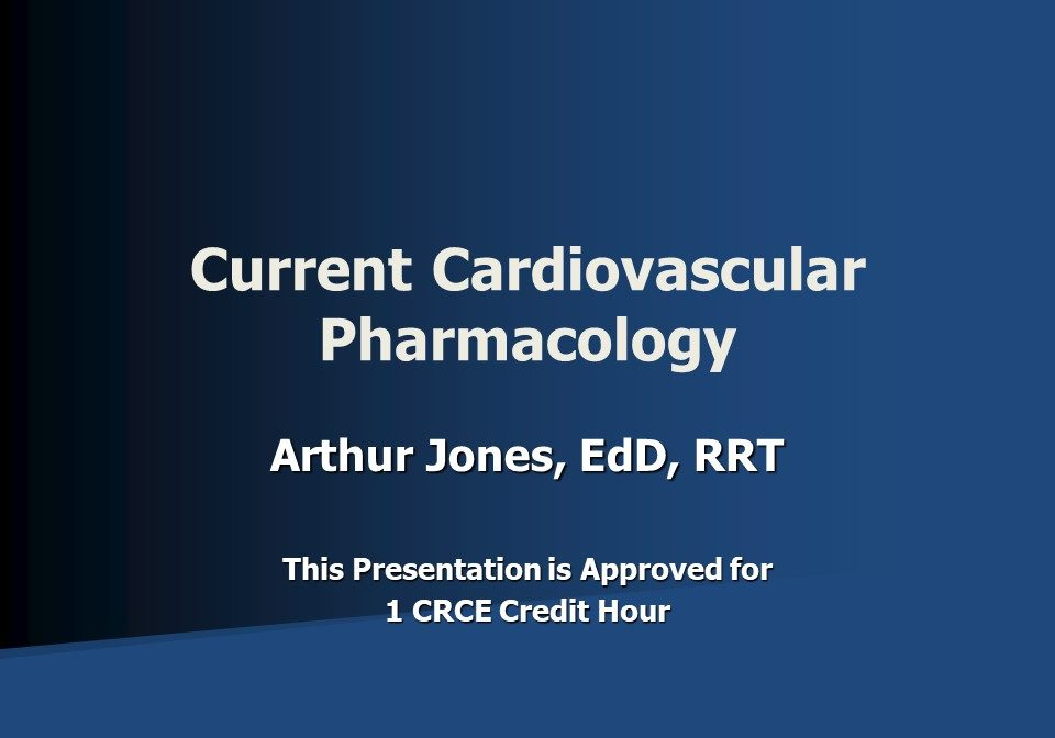 Current Cardiovascular Pharmacology Slide 1