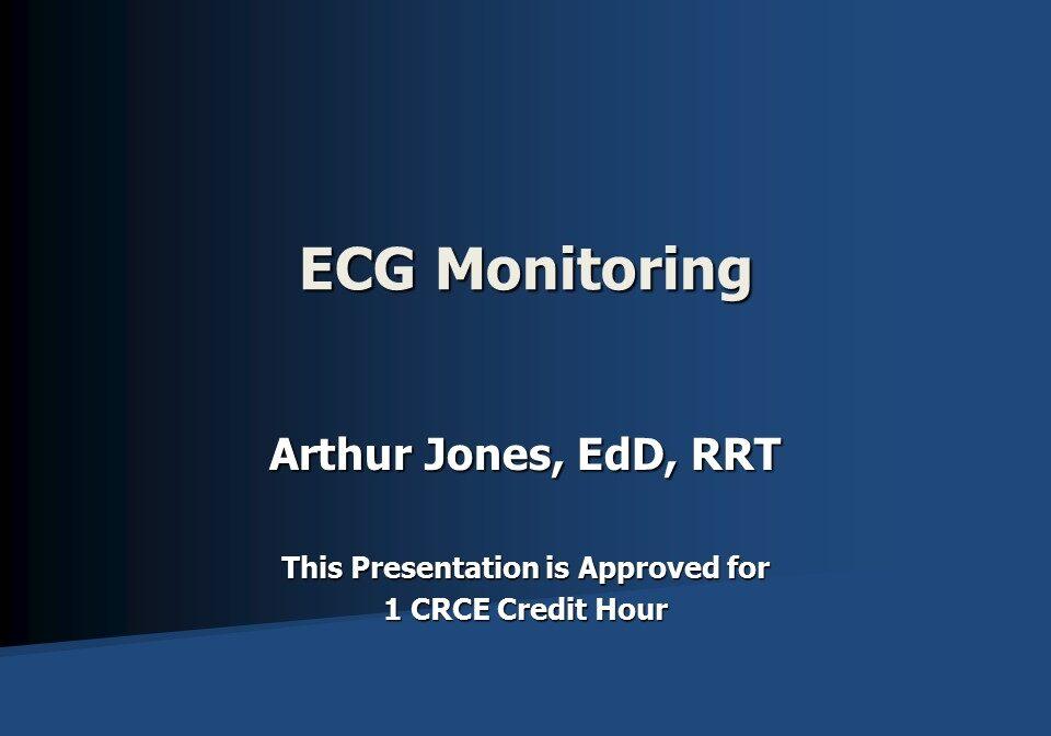 ECG Monitoring Slide 1 New