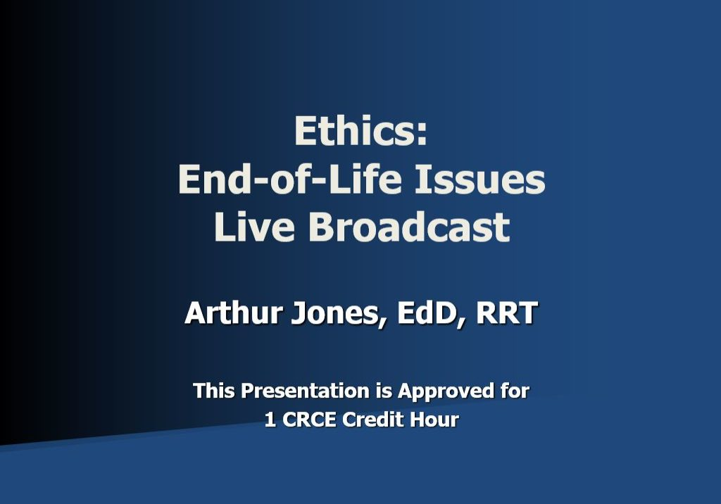 End-of-Life Live Broadcast AJ