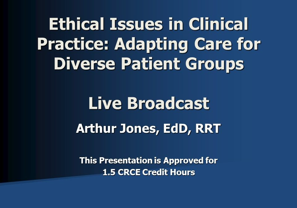 Ethics - Diverse Groups Live Broadcast Slide 1
