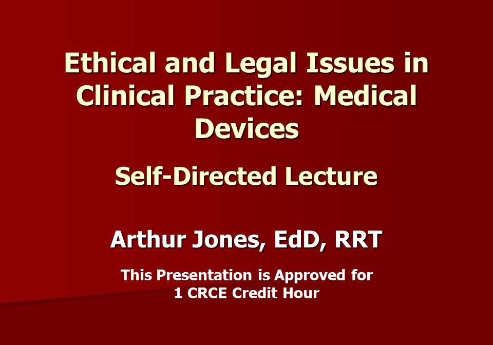 Ethics Medical Devices SD Slide 1