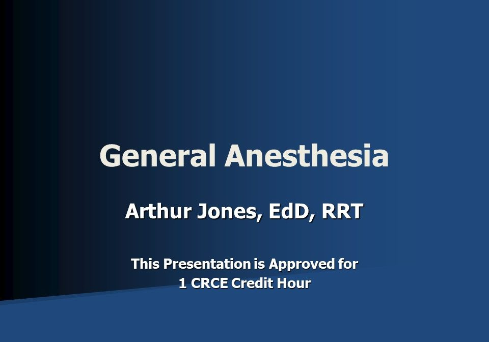 General Anesthesia Slide 1