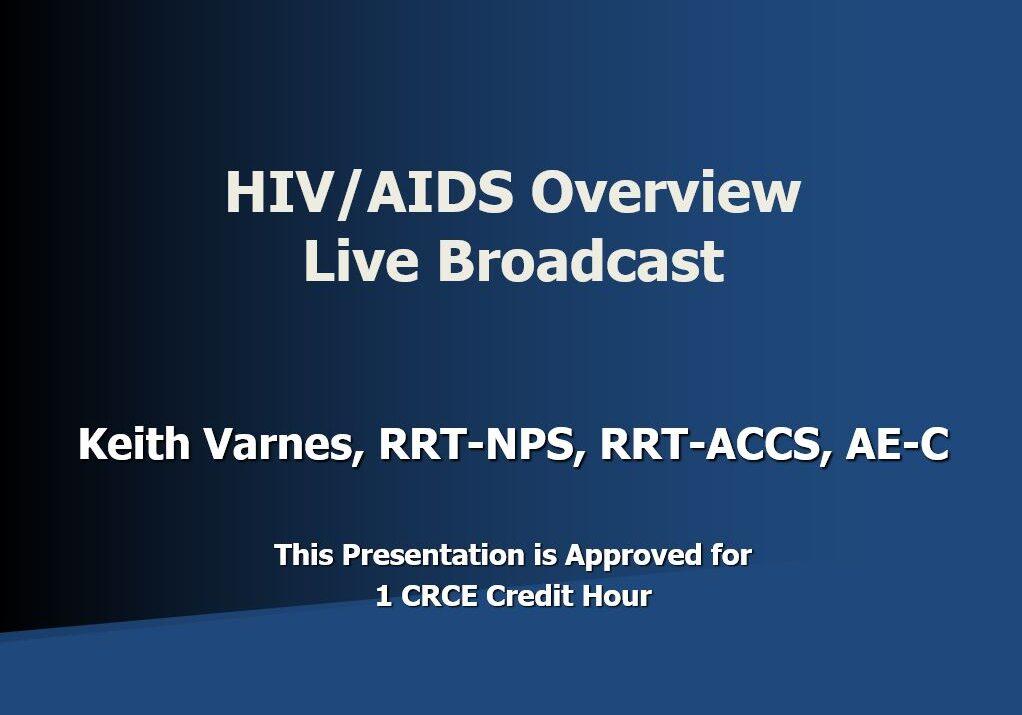 HIV Live Broadcast Title Page