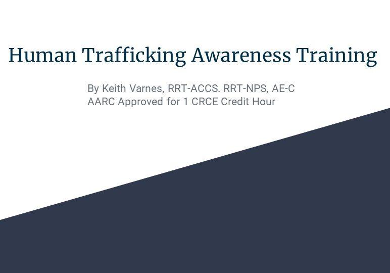 Human Trafficking Awareness Training Broadcast Slide 1-1