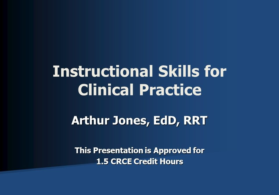 Instructional Skills for Clinical Practice Slide 1