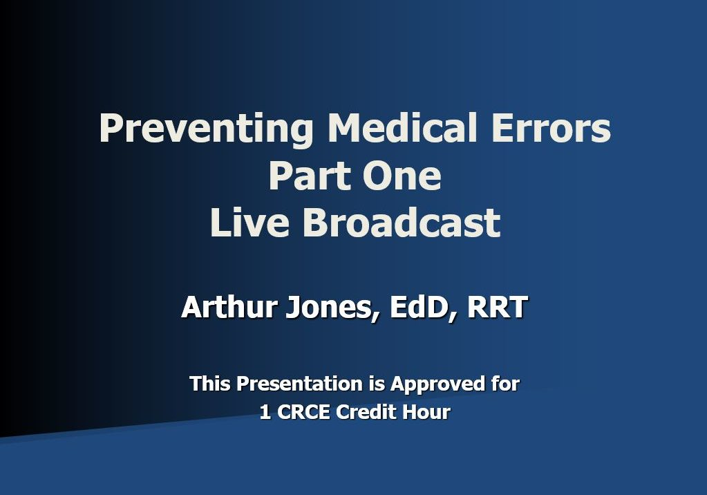 Medical Errors Part One AJ Live Broadcast