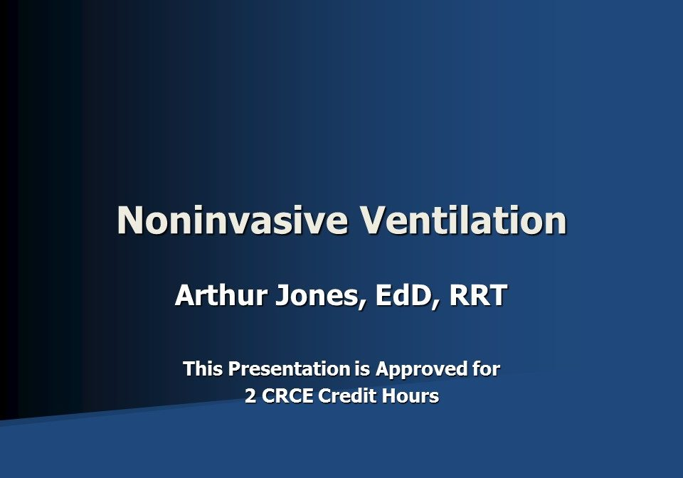 Noninvasive Ventilation Slide 1