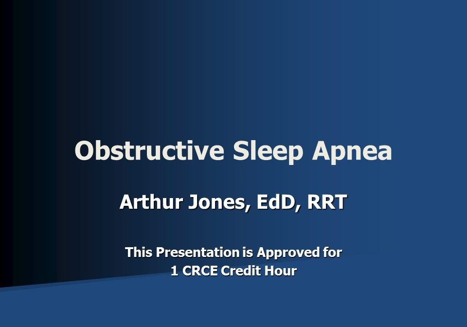 Obstructive Sleep Apnea Slide 1