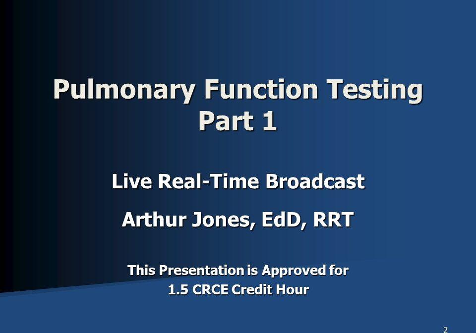 PFT Part 1 Broadcast Slide 1