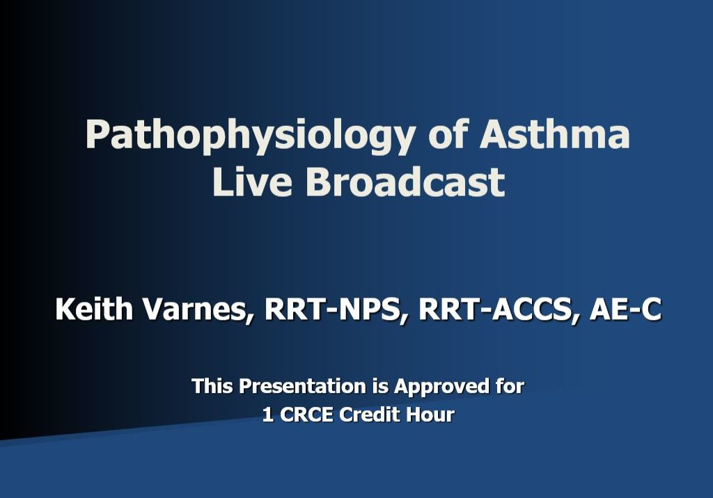 Patho of Asthma Live Broadcast Title Page