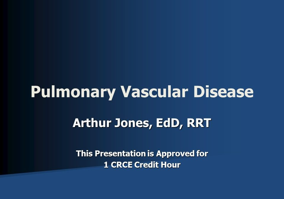 Pulmonary Vascular Disease Slide 1