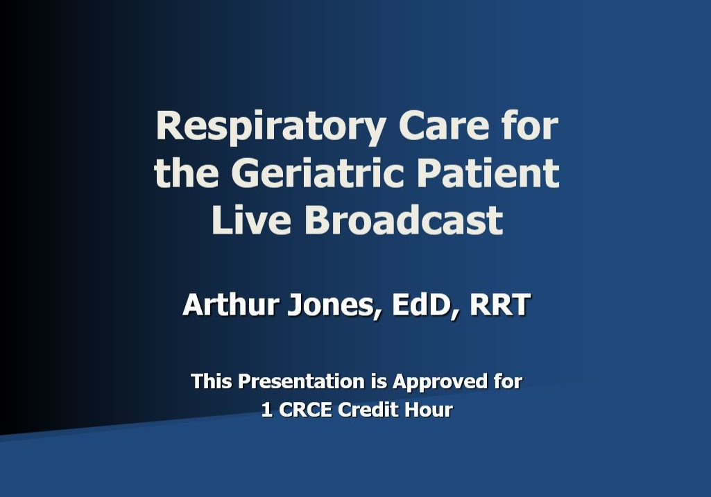 RC for Geriatric Live Broadcast AJ Title Page