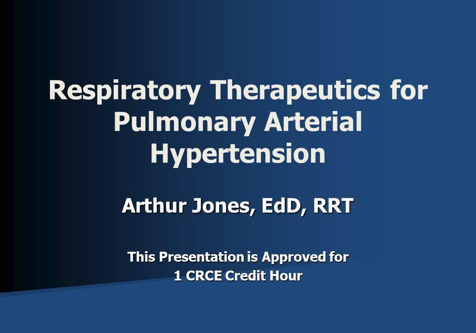 Respiratory Therapeutics for Pulmonary Arterial Hypertension Slide 1