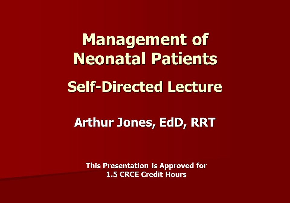SD Management Neonatal SD Slide 1
