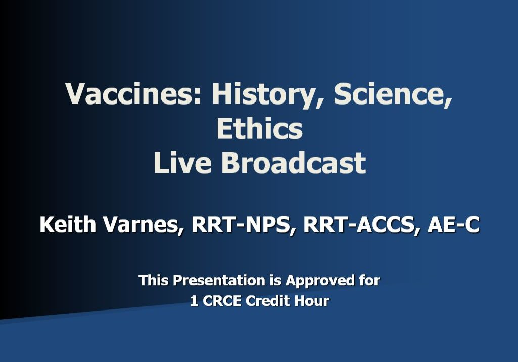Vaccines HSE Live Broadcast Title Page