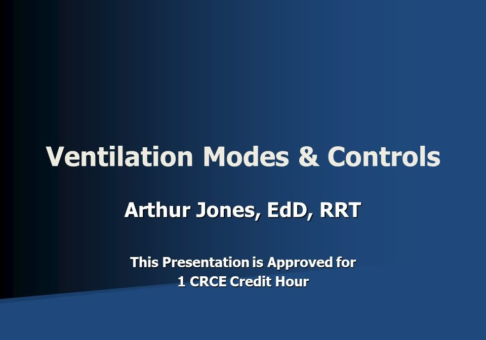 Ventilation Modes and Controls Slide 1